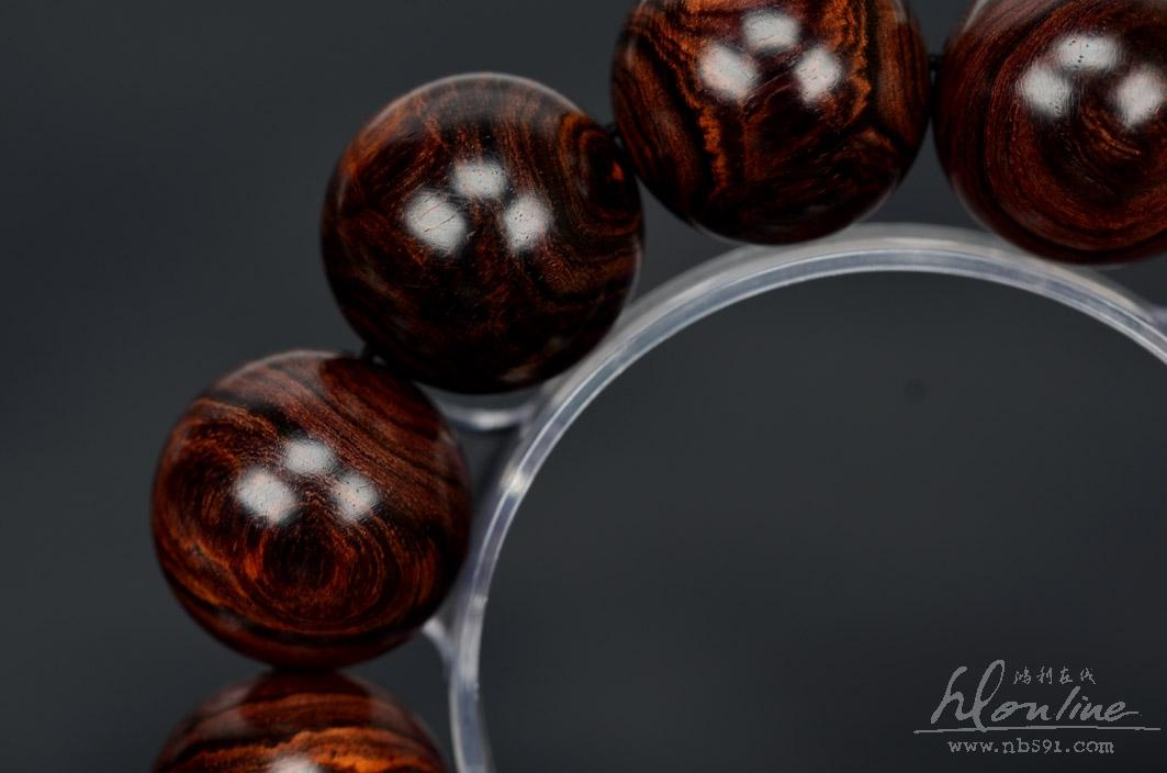 海南黄花梨 紫油梨手串 15 20mm 入水即沉 同料三串 精品级H392 H高清图片