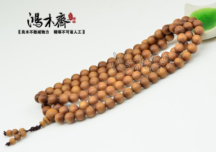顶级老山檀香108颗佛珠手链8MM深褐色沉水老山保真天然T03 (12).JPG
