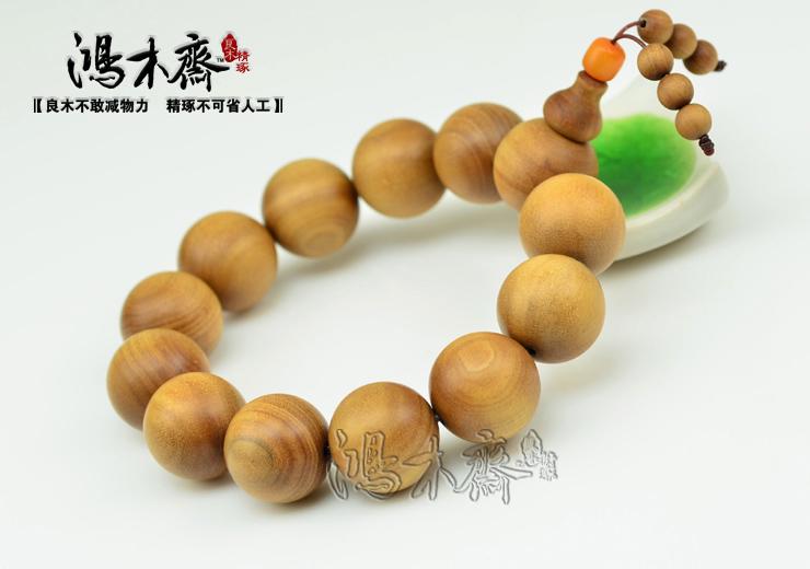 老山檀香18MM手串佛珠正宗保真印度老山檀香手链浅褐色T11 (12).JPG