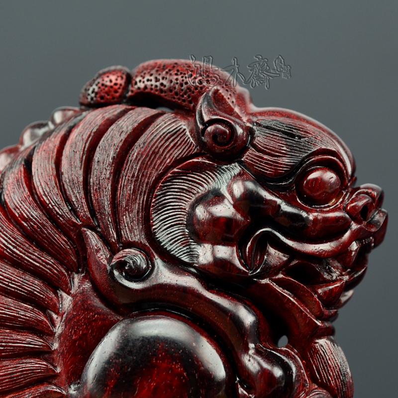 百吉雕刻貔貅正宗印度小叶紫檀鸿木斋包邮Z702 (5).JPG