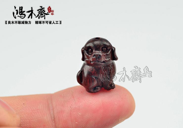 百吉雕刻貔貅正宗印度小叶紫檀鸿木斋包邮Z709 (8).JPG