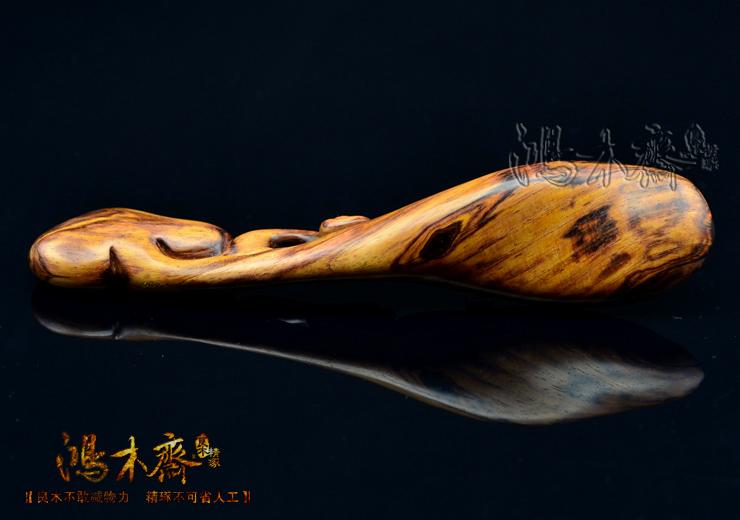 百吉雕刻海南黄花梨如意茶勺H3356 (18).JPG