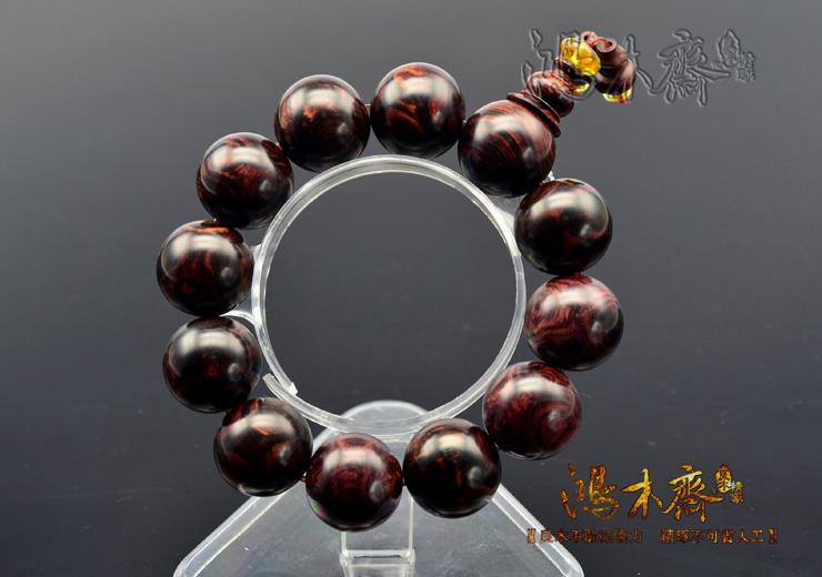 鸿木斋海南黄花梨紫油梨鬼脸手串20沉水孤品H3376 (11).JPG